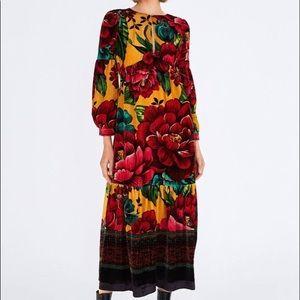 Farm Rio NWT Winter Garden Maxi Dress